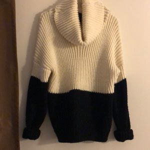 Cotton on black and white sweater